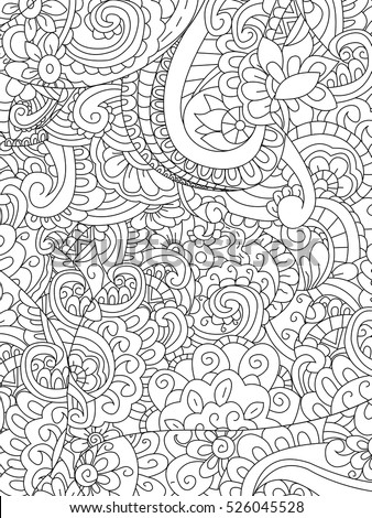 pattern flower coloring book for adults vector illustration anti stress coloring for adult - Flower Coloring Book