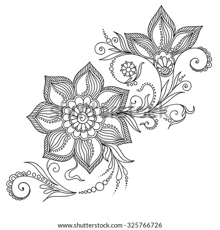 Pattern coloring book coloring book pages stock vector Coloring books for adults india
