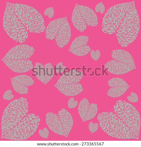 pattern from leaves of calla lilies on bright background