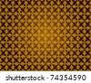 Pattern from oak leaves in a golden tonality - stock vector