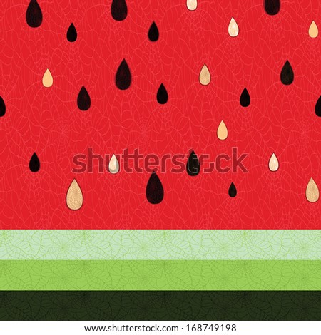 pattern fruit watermelon juice background organic texture food pulp seamless vector seed texture - stock vector
