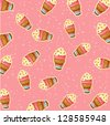 pattern ice cream vector - stock vector