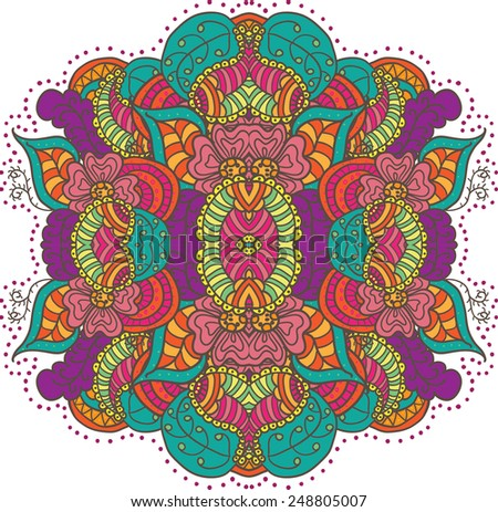 Pattern in engineering zentangle. Vector illustration ethnic ornament