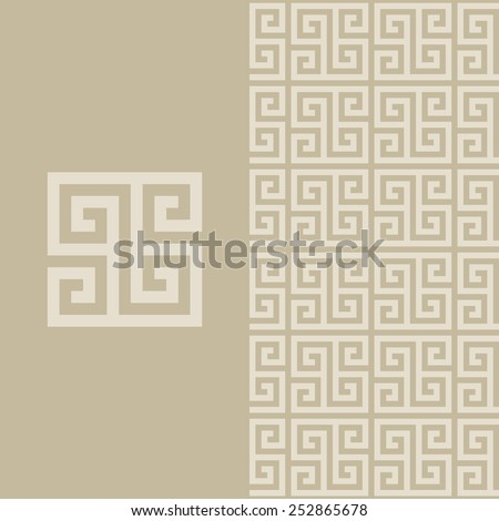 pattern in greek style Qualitatively made without distorting the proportions