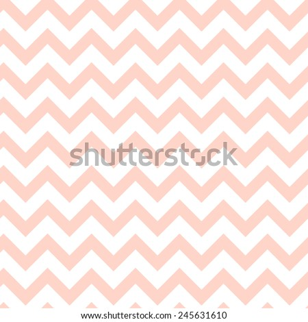 Pattern in zigzag. Classic chevron seamless pink pattern. - stock vector