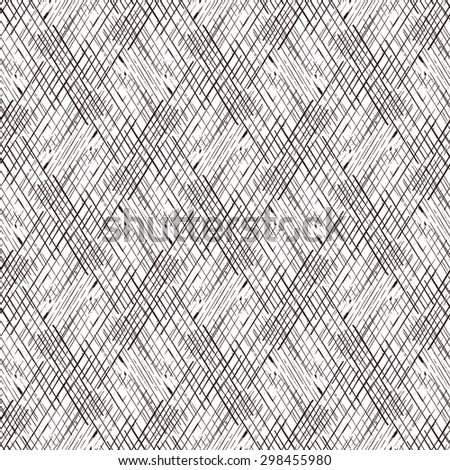 Pattern in zigzag with line black and white. - stock vector
