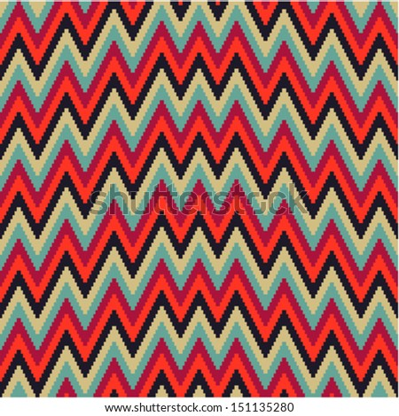 Pattern irregularly zigzag - stock vector