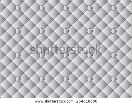 Pattern leather upholstery White - stock vector