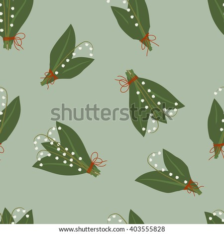 Pattern lilies of the valley