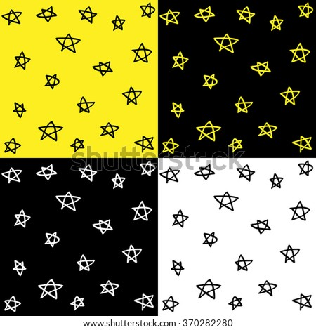 Pattern Made With Stars Vector EPS10, Great for any use. - stock vector