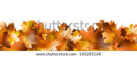 Pattern of autumn leaves, lying on the ground. And also includes EPS 10 vector - stock vector