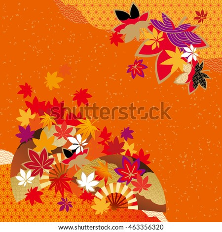 Pattern of beautiful autumn leaves