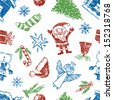 pattern of christmas - stock vector