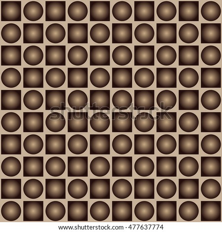 Pattern of circles and squares