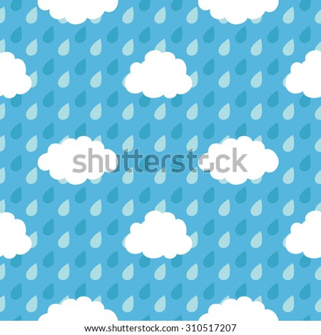 Pattern of clouds and drops