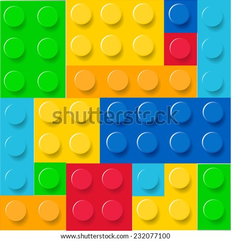 Pattern of colorful childish blocks vector