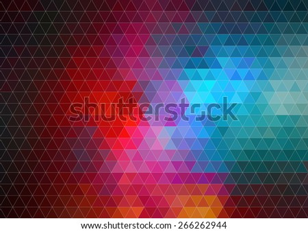 Pattern of geometric shapes, Background with flow of spectrum elements - stock vector