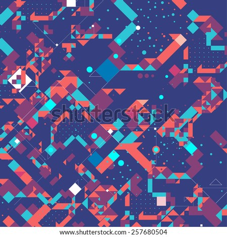 pattern of geometric shapes. Colorful mosaic banner. background, card, brochure - stock vector