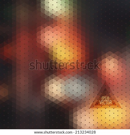 Pattern of geometric shapes. Colorful mosaic. Retro triangle background - stock vector