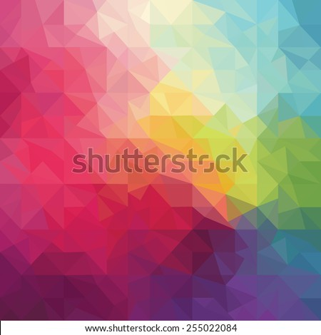Pattern of geometric shapes. Vector illustration - stock vector