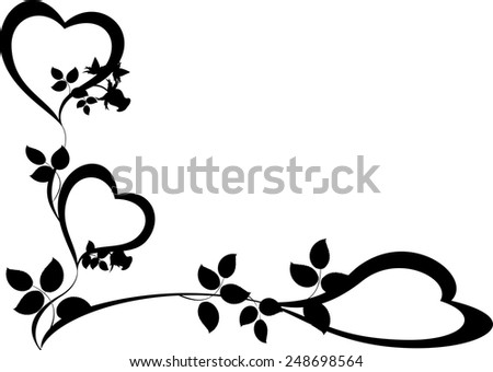 Pattern of hearts and roses. EPS10 vector illustration. - stock vector
