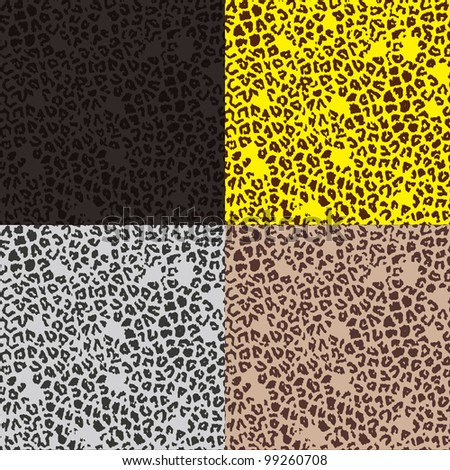 Pattern of leopard - stock vector