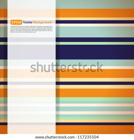 Pattern of multicolored stripes - stock vector