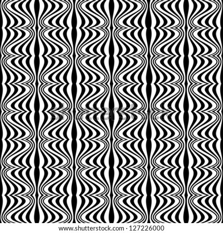Pattern - Optical illusion with geometric drawing - stock vector
