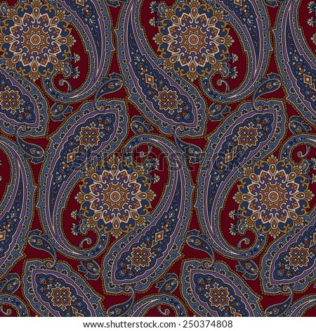 pattern paisley - stock vector