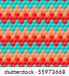 pattern - pixel knitting - stock vector
