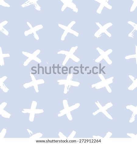Pattern plus. Seamless pattern plus sign is made with ink. Handmade. - stock vector