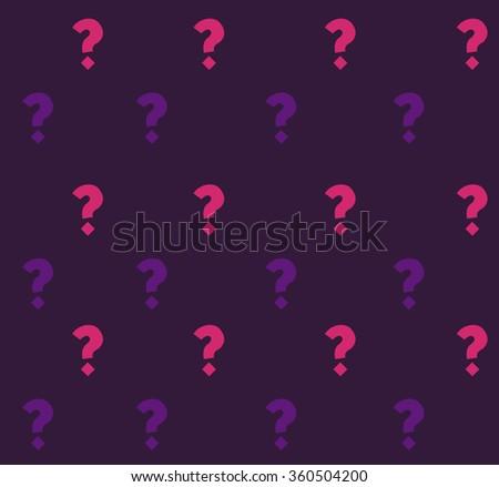 Pattern question  purple - stock vector