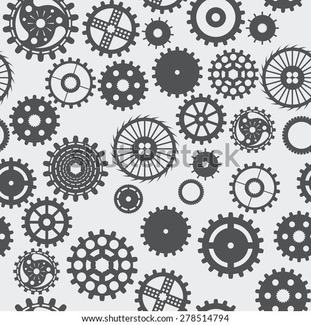 pattern seamless texture background gear wheel turns dark on white.
