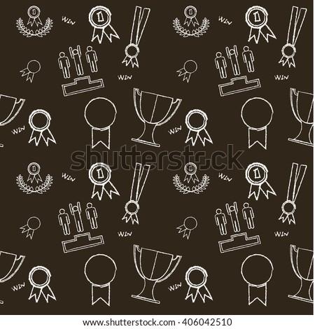 Pattern Seamless Texture Winner Medal Vector Stock Vector 406042510 - Shutterstock