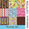 pattern set. vector illustration - stock vector
