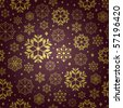 pattern snowflake background - stock vector