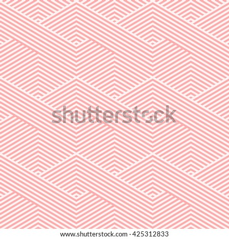 Pattern stripe seamless pink colors design for fabric, textile, fashion design, pillow case, gift wrapping paper; wallpaper etc. Chevron stripe abstract background vector.