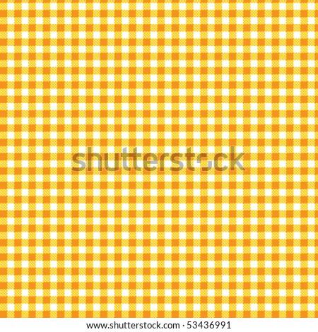 Pattern tablecloth yellow orange - stock vector