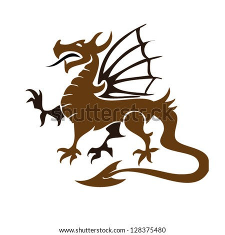 Pattern vector of traditional Chinese dragon. Gray dragon isolated on white background. illustration.eps10 vector. - stock vector