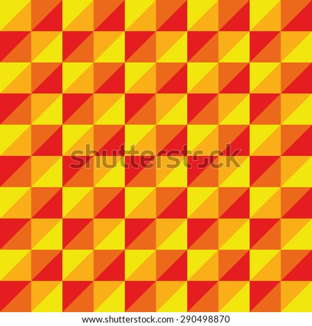 Pattern Vector Seamless Polygon Triangle yellow red for different purchase - stock vector