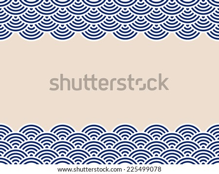 pattern wave - stock vector