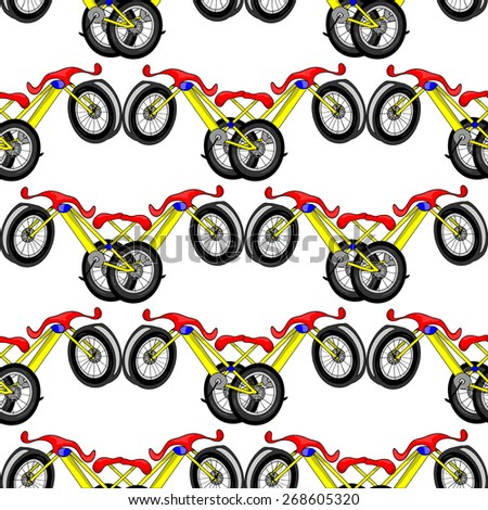 pattern with a bike - stock vector