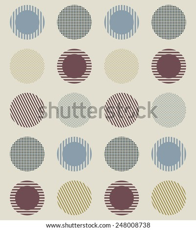 pattern with circles - stock vector
