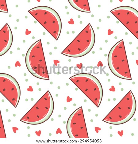 Cute Watermelon Background Stock Images Royalty Free