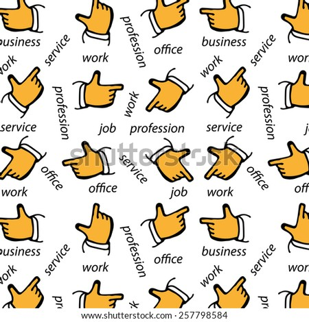 Pattern with fingers. - stock vector