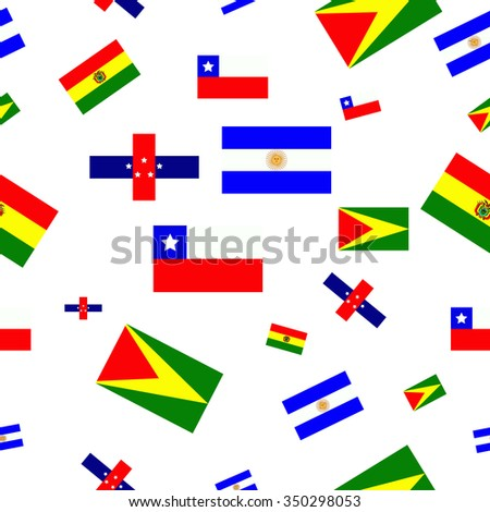 pattern with Flags of South America
