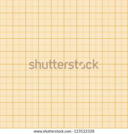 Pattern with millimeter grid (orange) - stock vector