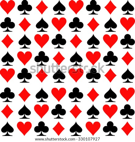 Pattern with playing cards suits