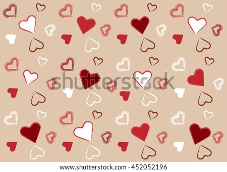Clip Art Line Of Hearts : Pattern red white hearts different circuit stock vector hd