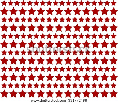 Pattern with red stars